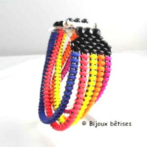 Multirangs fluo bracelet
