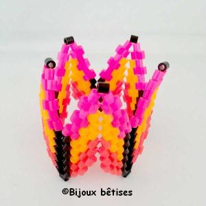 Fluo fuschia orange bracelet