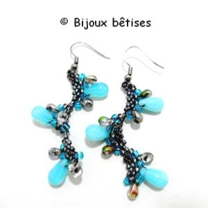 Gouttes turquoises bo